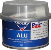 Шпатлевка Solid ALU с алюминиевым наполнителем, 0,5 кг