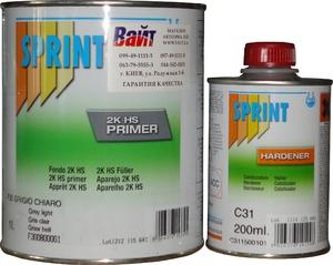 Купить F31 Грунт-наполнитель HS PRIMER PLUS 5:1 Sprint 1л +отвердитель С31 0,2л - Vait.ua
