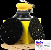 АТ9806 пневматическая шлифовальная машинка + защитная подложка + мягкая подложка + пачка Sunmight