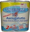 Полотенце бумажное протирочное Tenerella Big Supercompact 2-х слойное, 23см х 20см, 400 отрывов, белое
