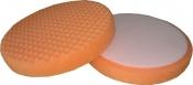 """Рельефный (точечный) поролоновый диск """"Вайт"""" Ø 150мм """"липучка"""", оранжевый, универсальный"""