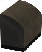 """Шлифовальная колодка """"Вайт"""" (серия """"VTP""""), вид R-mini, ''Profi'', серая полукргулая, 62х40х32мм"""