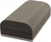 """Шлифовальная блок """"Вайт"""" (серия """"VTP""""), вид F, ''Econom'', черный полукргулый, 140х45х45мм"""